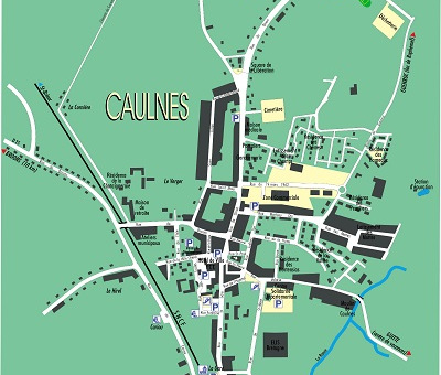 plan du bourg de caulnes