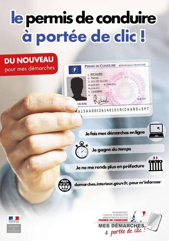 affiche le permis de conduire