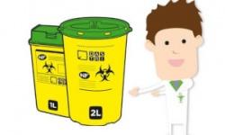 boites jaunes couvercle vert personnage