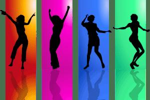 danseur devant couleur