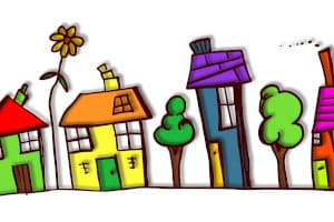 habitations en dessin
