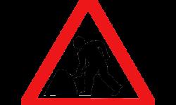 panneau signalétique travaux