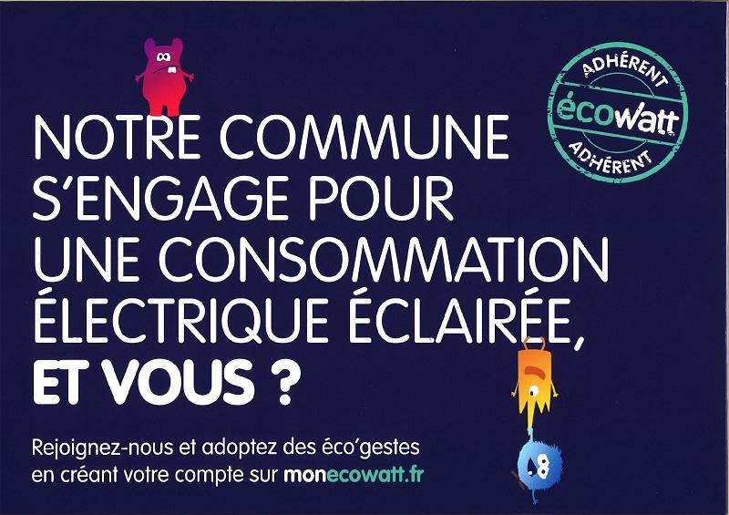 notre commune s'engage pour une consommation électrique éclairée ecowatt